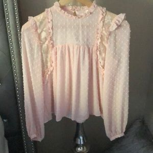 Baby Pink Victorian Style Blouse